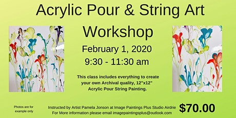 Acrylic Pour String Art Workshop tickets