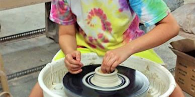 Intro to Pottery wheel throwing for Kids in Oakville, Bronte Harbour