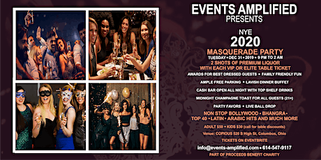 New Year's Eve 2020 Bollywood Masquerade Party tickets