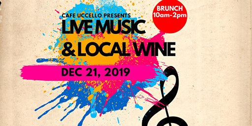 Holliday brunch: live music, local wines, mimosas, vegan soul foods