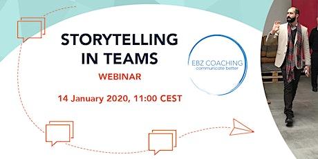 Storytelling in Teams - Webinar billets