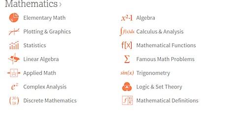 Mon_Night_Math: Intro to Wolfram Alpha tickets