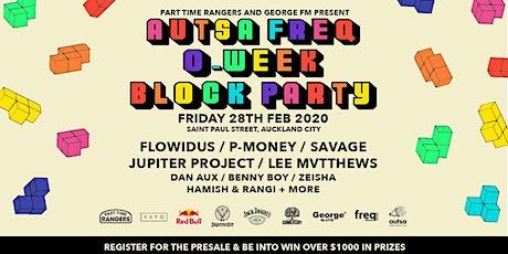AUTSA freq O-Week block party 2020 tickets