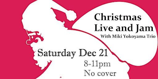 [NYC JAZZ]Christmas Live and Jam with Miki Yokoyama Trio