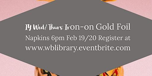 DIY Thursday: Iron-on Gold Foil Napkins