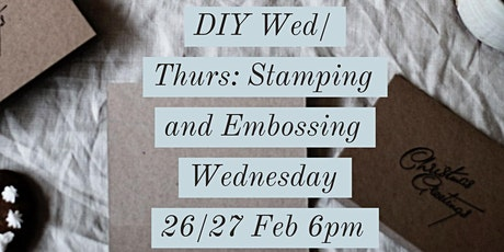 DIY Wednesday: Stamping and Embossing tickets