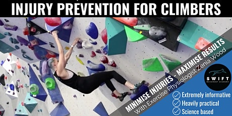 Injury Prevention for Climbers by Zenia from Swift Movement tickets