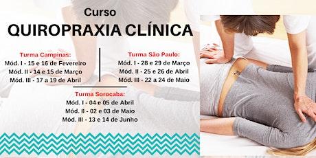 Curso Formação em Quiropraxia Clínica ingressos