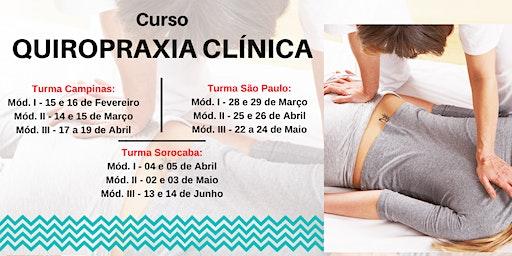 Curso Formação em Quiropraxia Clínica
