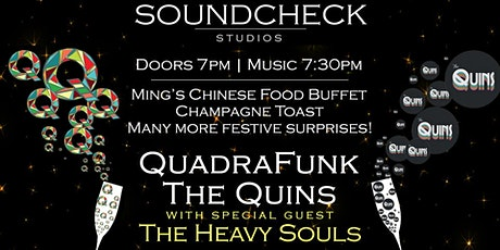 NYE Soundcheck Party with QuadraFunk, Quins and Heavy Souls tickets