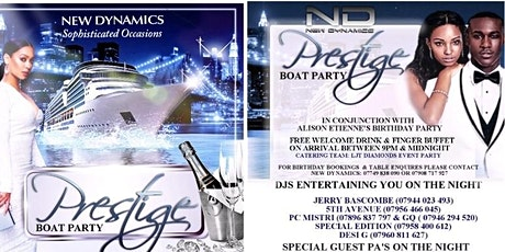 New Dynamics Prestige Boat Party tickets