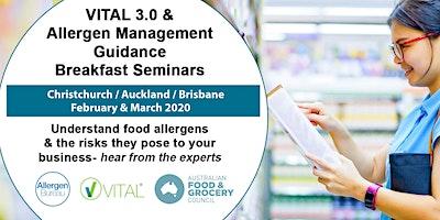 VITAL 3.0 and Allergen Management Guidance Breakfast Seminar (Brisbane)