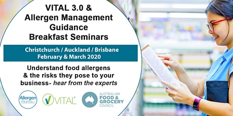 VITAL 3.0 and Allergen Management Guidance Breakfast Seminar (Brisbane) tickets