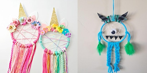Unicorn and monster dream catchers (Mudgee Library, ages 6-8)