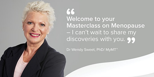 Your SHEFFIELD Masterclass in Menopause - March 3rd 2020