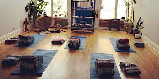 Yin Yoga. Waxing Crescent Moon Manifestation Ceremony. Sound Bath