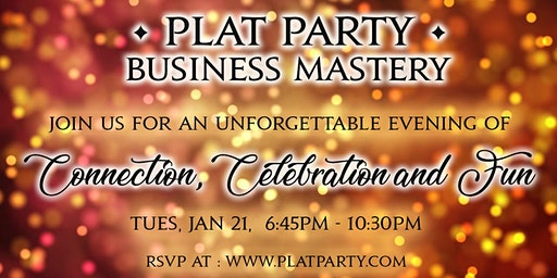 EPIC PRE-PLAT PARTY and HYPNOSIS SHOW before BUSINESS MASTERY