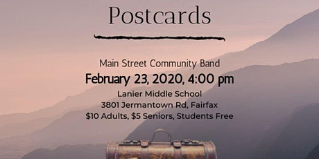 Postcards: Main Street Community Band Winter concert tickets