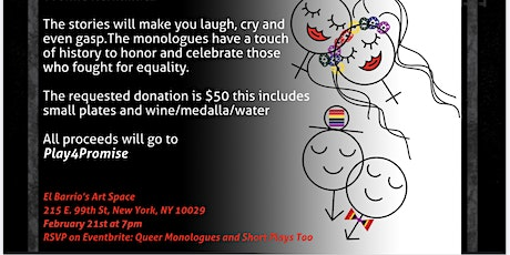Queer Monologues and Short Plays Too tickets