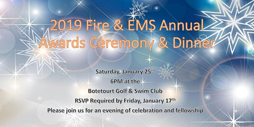 2019 Fire & EMS Annual Awards Banquet