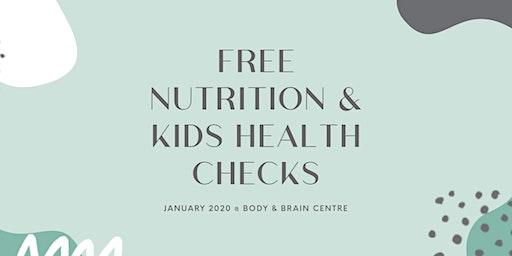 Free Kids Nutrition & Health Checks