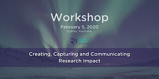 Create, capture and communicate research impact