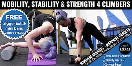 Mobility, Stability & Strength 4 Climbers: 3 Part Workshop tickets