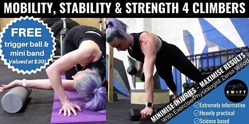 Mobility, Stability & Strength 4 Climbers: 3 Part Workshop