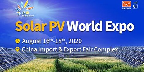The 12th Solar PV World Expo 2020 tickets