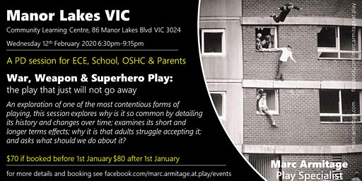 War Weapon & Superhero Play - in Manor Lakes VIC