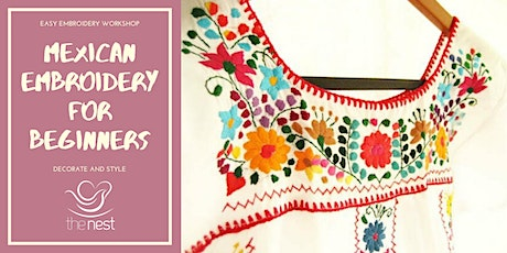 MEXICAN EMBROIDERY FOR BEGINNERS tickets