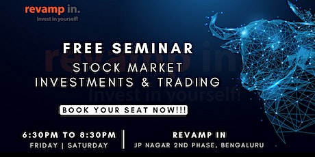 Free Seminar on Stock Market Investments & Trading| Live Review| tickets