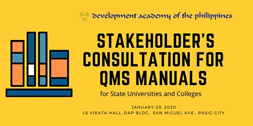 Stakeholder's Consultation Workshop for QMS Manuals