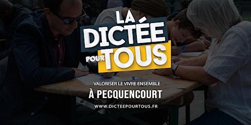 La dictée pour tous à à Pecquencourt