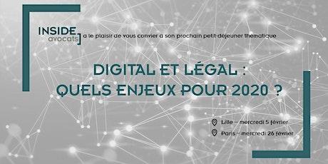 Digital et Legal : Quels enjeux pour 2020 ? (Lille) billets