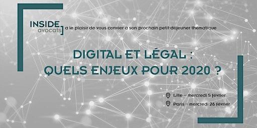 Digital et Legal : Quels enjeux pour 2020 ? (Lille)