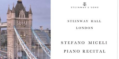 Stefano Miceli Piano Recital | London, U.K. | Steinway Hall tickets