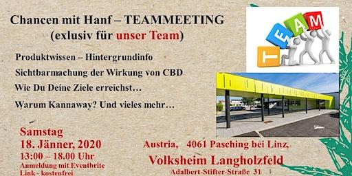 Teammeeting Pasching Samstag 18.01.2020 von 13.00 Uhr bis 18.00 Uhr