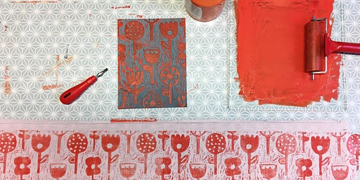 Perfect Print - Lino Print a Lampshade