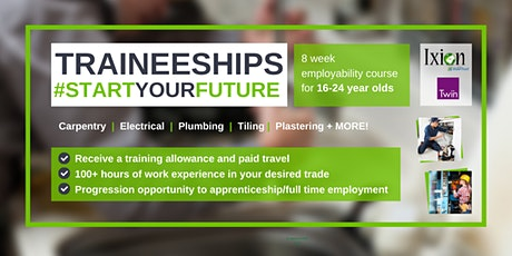 Traineeship - 8 Week employability course for 16-24 year olds in FOLKSTONE tickets