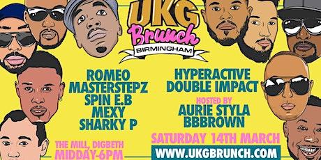 UKG Brunch Birmingham - Romeo | Masterstepz | Sharky P tickets