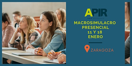 MACROSIMULACRO PRESENCIAL APIR ZARAGOZA entradas