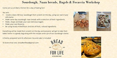 Postponed*****Sourdough bread with Naan, Bagels, & Focaccia tickets