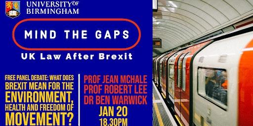 Mind the Gaps: UK Law after Brexit