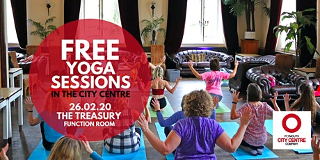 FREE Monthly City Centre Yoga - 4 Sessions (February) - Mats Provided tickets