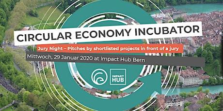 Circular Economy Incubator: Jury Night Tickets