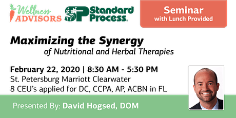 Maximizing the Synergy of Nutritional and Herbal Therapies tickets