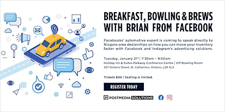 Breakfast, Bowling & Brews with Brian from Facebook tickets