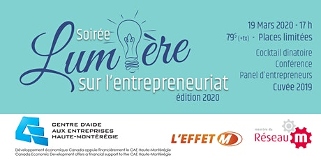 Soirée lumière sur l'entrepreneuriat -  Édition 2020 billets