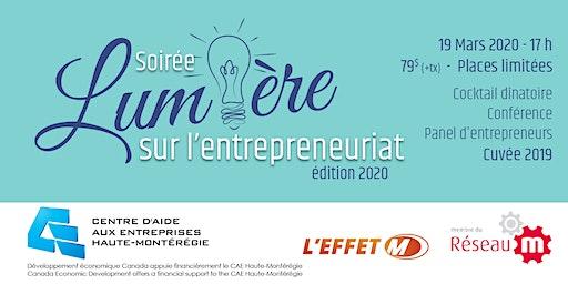 Soirée lumière sur l'entrepreneuriat -  Édition 2020